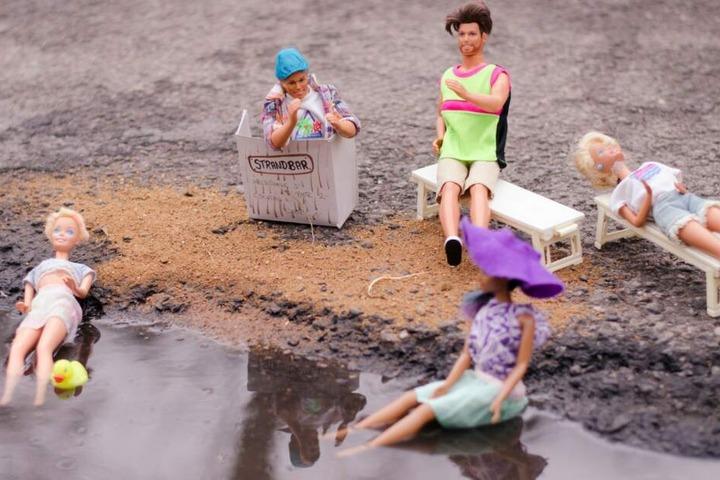 Die Anwohner haben sich kreative Foto-Ideen einfallen lassen, um auf die Situation aufmerksam zu machen
