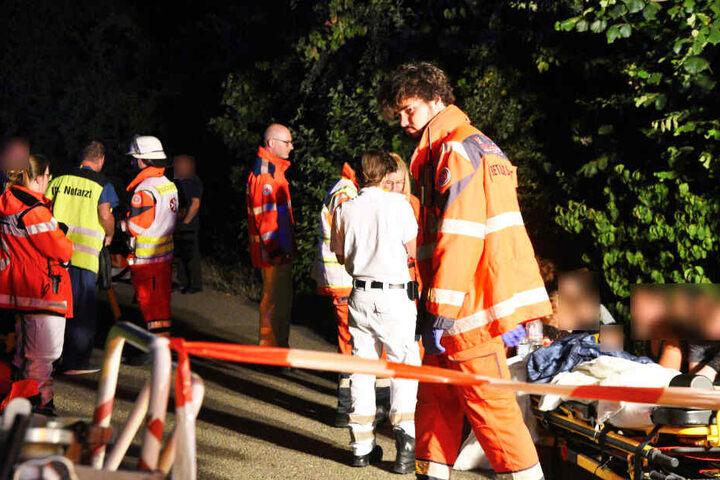 Mehrere Menschen wurden verletzt. Eine Frau zog sich beim Sprung aus einem Fenster einen Bruch zu.