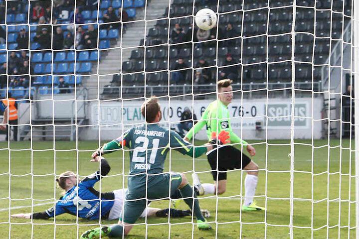 Fast hätte es für Florian Hansch in Frankfurt sogar noch mit einem zweiten Treffer geklappt.