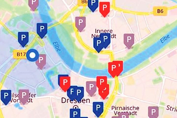 Öffentliche Parkplätze werden zwar schon jetzt auf Navis angezeigt, mit der  neuen App gibt's die Infos aber  maßgeschneidert.