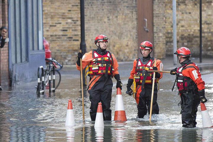 Zwischenzeitlich stand das Wasser bis zu 2,5 Meter hoch.