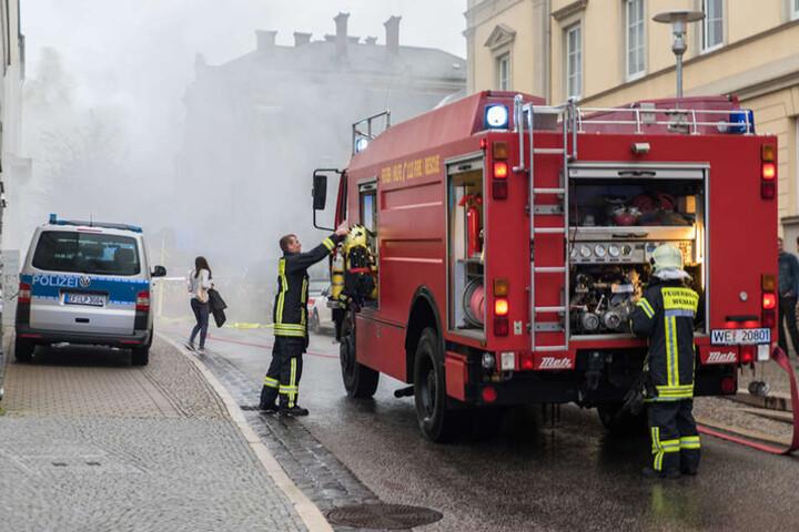 Nach etwa 20 Minuten hatte die Feuerwehr das Feuer unter Kontrolle.