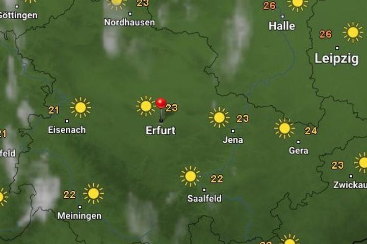 Strahlender Sonnenschein erwartet Thüringen am Mittwoch.