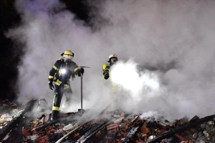 Ein Nebengebäude auf dem Thomashof wurde zerstört.
