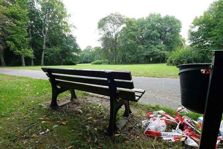 An dieser Parkbank begann der verhängnisvolle Streit, wenig später war Mohammed N. († 21) tot.