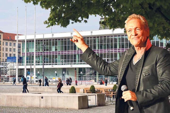 Singt für die Dresdner zur Kulti-Eröffnung: Olaf Berger  (53).