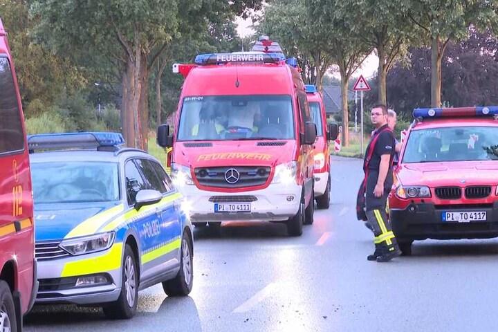 Polizei und Feuerwehr rückten aus, um die Python zu finden.