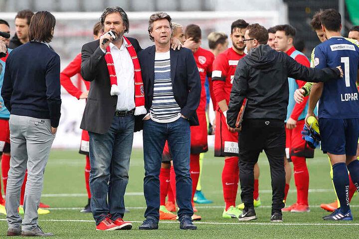 Hier wird Jeff Saibene beim FC Thun am Sonntag verabschiedet.