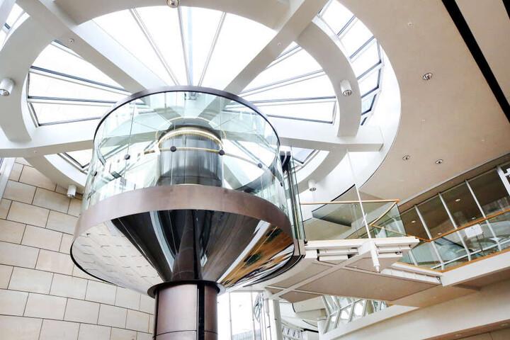 Das Foto zeigt einen Aufzug im Landtag.