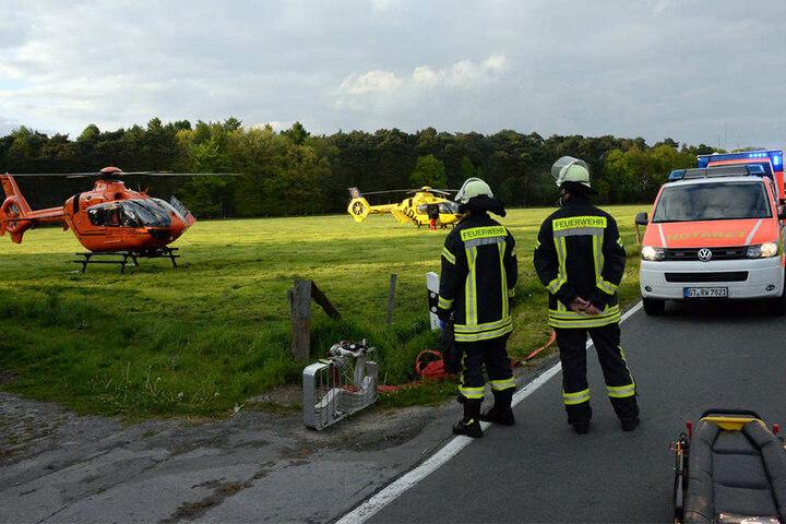 Die Jugendlichen mussten per Hubschrauber in Kliniken gebracht werden.