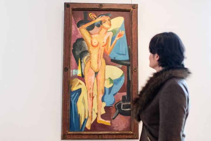 """""""Akt vor dem Spiegel"""" von Ernst Ludwig Kirchner kommt zum ersten Mal auf den Kunstmarkt und soll Millionen wert sein."""