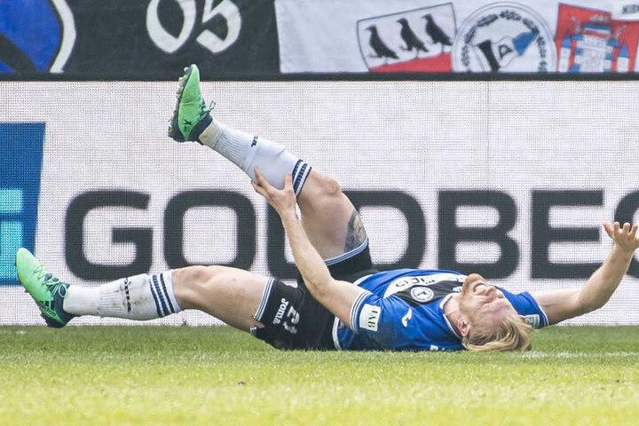 In der 82. Minute verletzte sich Andreas Voglsammer, Sören Brandy kam für ihn.