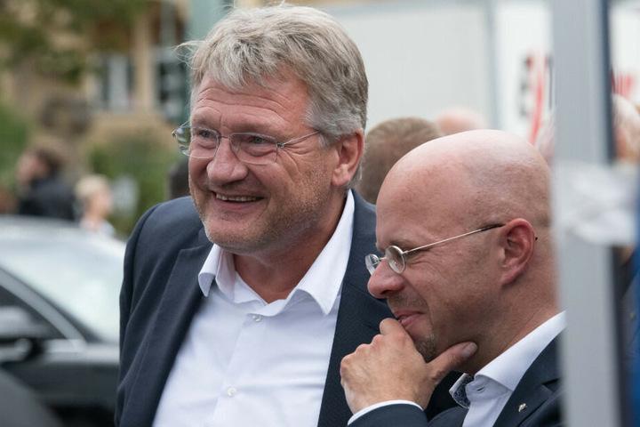 Die AfD-Politiker Jörg Meuthen (links) Andreas Kalbitz.