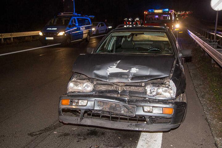 Eine Fahrerin konnte nicht mehr rechtzeitig bremsen.
