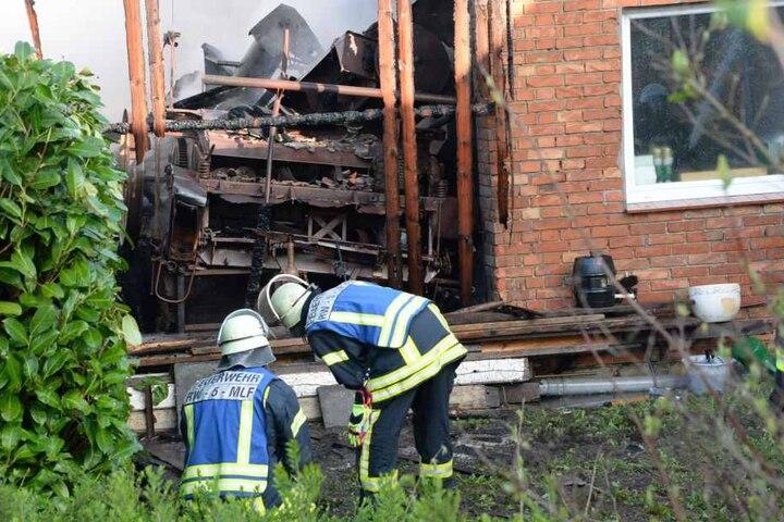 Eine historische Maschine fiel den Flammen zum Opfer.