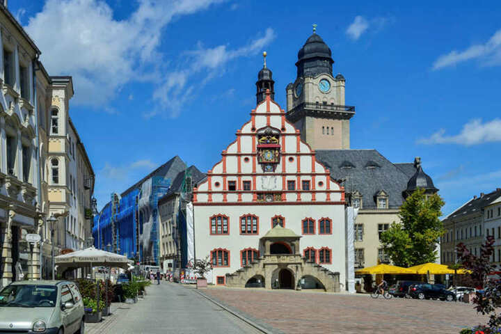 Das Plauener Rathaus wird derzeit saniert.
