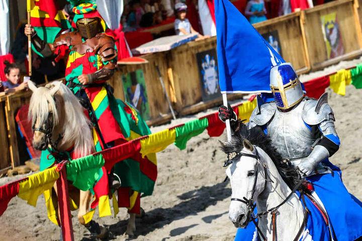Ritter werden sich am Sonntag in Thüringen duellieren.
