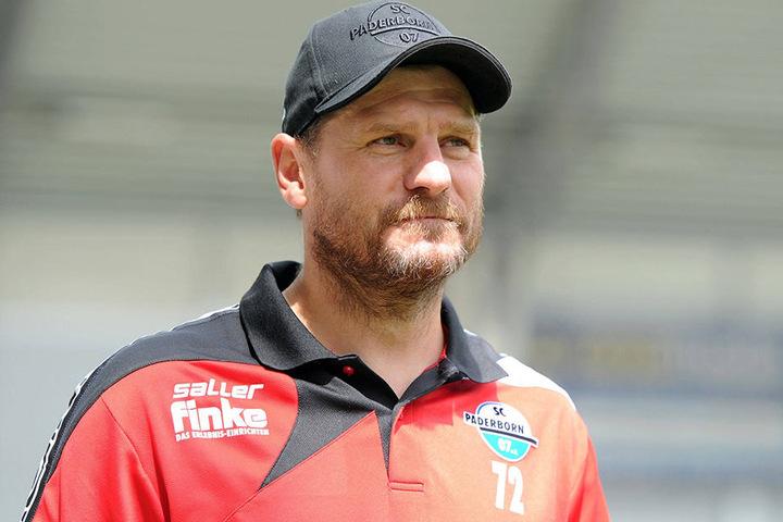 SC Paderborn-Trainer Steffen Baumgart hat die richtigen Worte gefunden und seine Männer zum Sieg geführt.