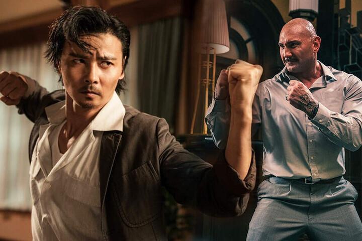 Cheung Tin Chi (l., Max Zhang) muss sich mit dem hartgesottenen Owen Davidson (David Bautista) anlegen. (Bildmontage)