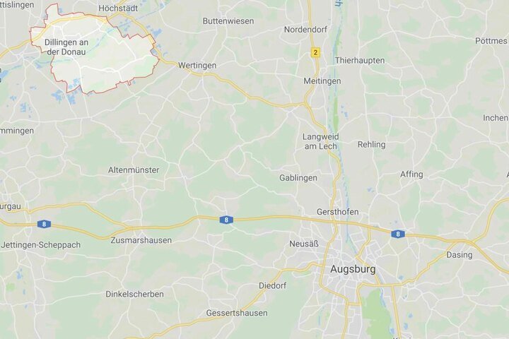 In Blindheim bei Dillingen in Bayern war es zu dem erschreckenden Zwischenfall gekommen.