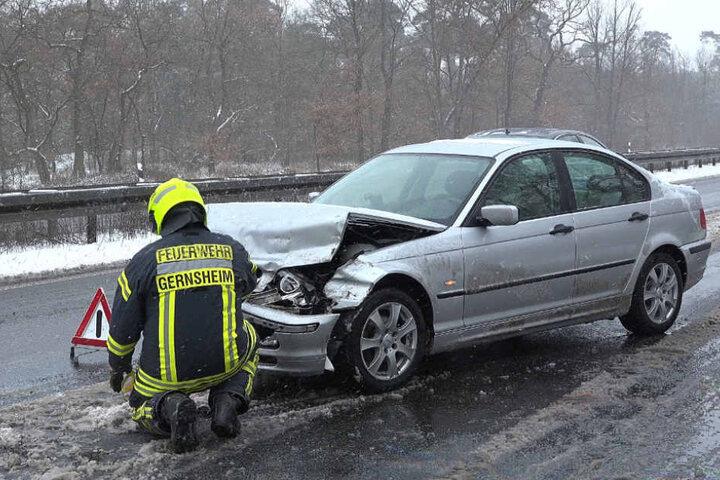 An dem BMW entstand zum Glück nur ein Blechschaden.
