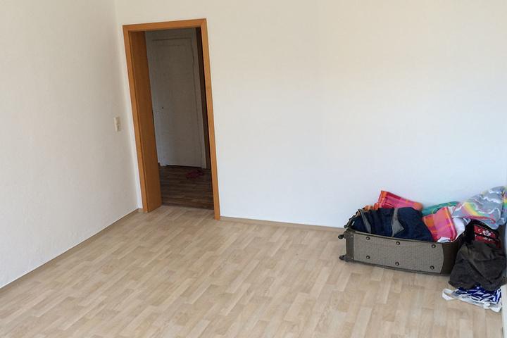 Die Polizei-Spezialkräfte stürmten diese leere Wohnung am Sonnenberg.