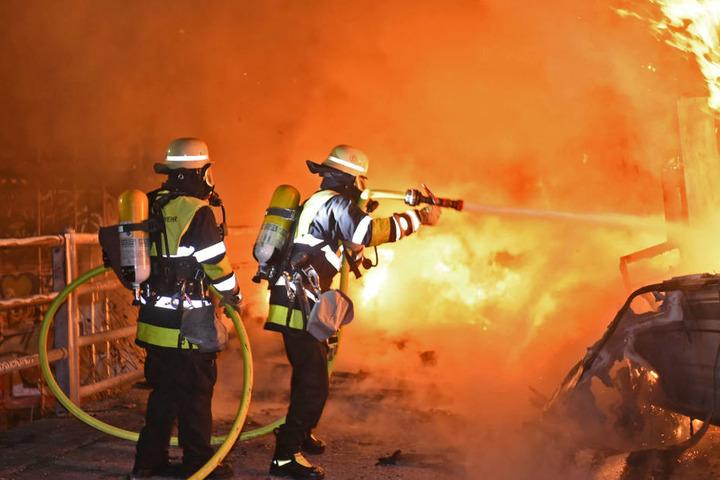 Nach 30 Minuten war der Brand gelöscht.