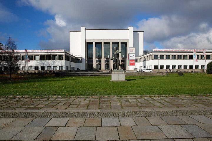 Das Deutsche Hygiene-Museum am Lingnerplatz.