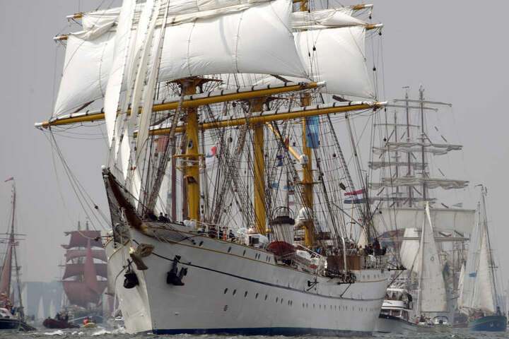 Das Segelschulschiff bei der Kieler Woche. (Archivbild)