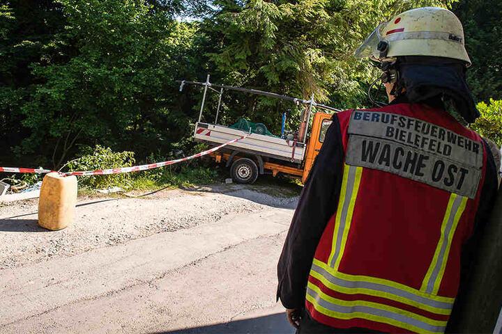 Der Arbeiter wurde schwer verletzt.