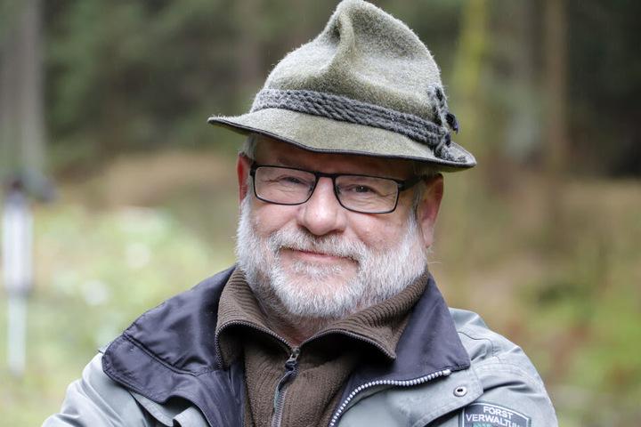 Förster Holger Stark (62) aus dem Revier Eibenstock.