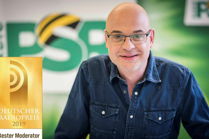 """Steffen Lukas (49) moderiert seit 1993 bei Radio PSR, wurde erst im September als """"Bester Moderator"""" Deutschlands ausgezeichnet."""