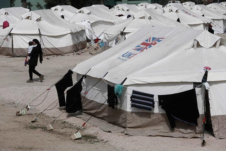 Ein Transit-Lager für Flüchtlinge im Westen von Athen.