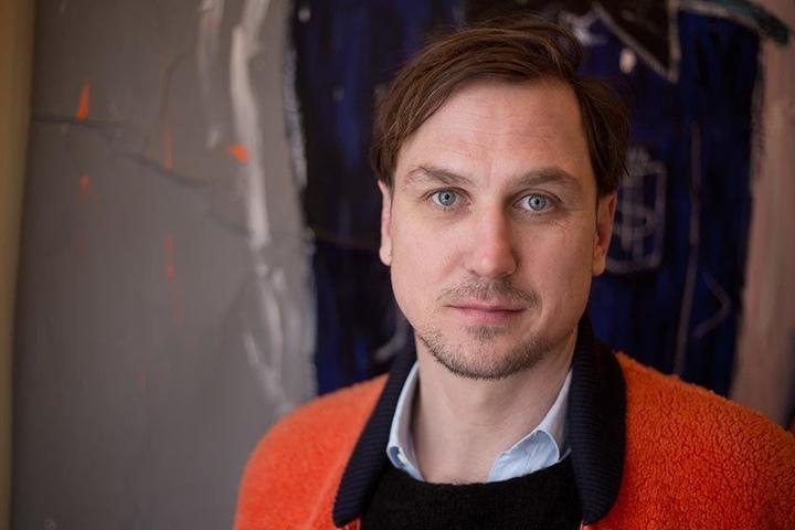 Der Schauspieler Lars Eidinger bei einem dpa-Interview am 06.01.2016 in Berlin.