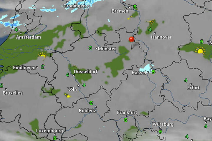 Außerdem liegt weiterhin ein Wolkenschleier über unserer Region. Kommende Woche wird sich die Sonne nur selten blicken lassen.