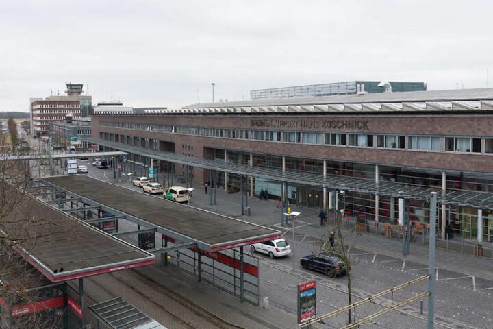 """Der Flughafen """"Airport Hans Koschnick"""" in Bremen."""