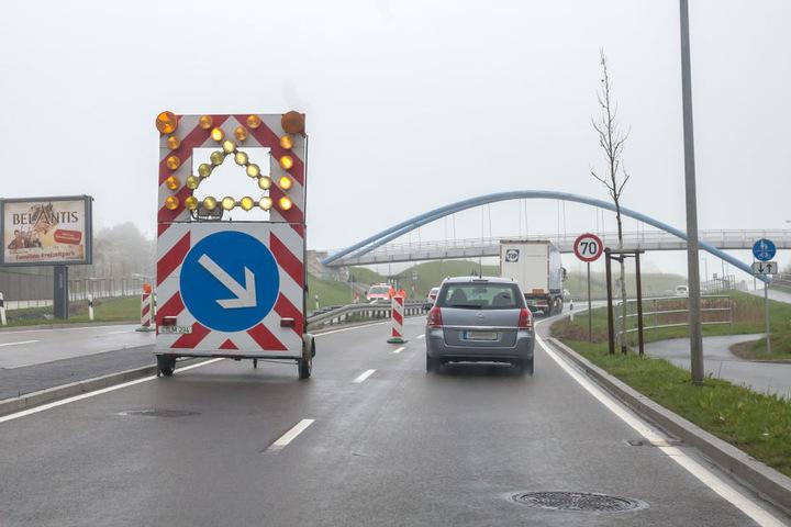 Jetzt wird's eng: Die Zschopauer Straße wird schon wieder saniert.