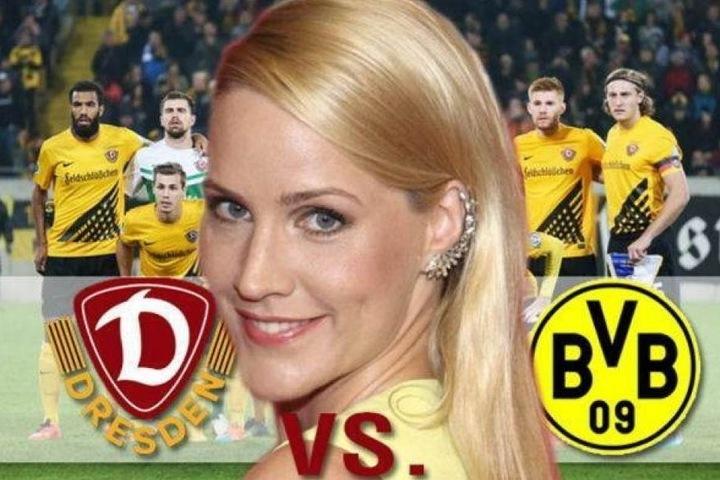 Tagesschau-Sprecherin Judith Rakers bescherte Dynamo einst als Losfee Borussia Dortmund.