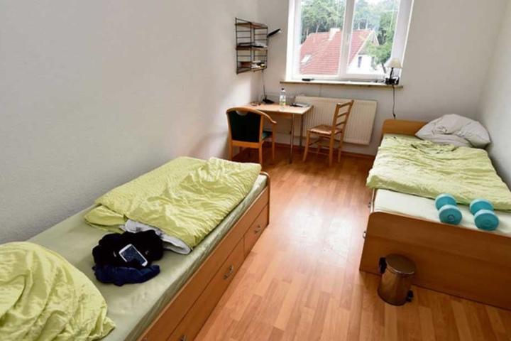 In den Erstaufnahmen Sachsens sind viele Betten frei.