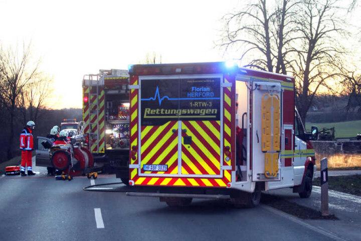 Rettungswagen und -hubschrauber waren im Einsatz.