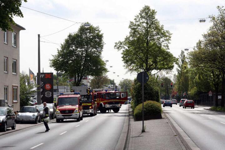 Die Detmolder Straße musste kurzzeitig gesperrt werden.