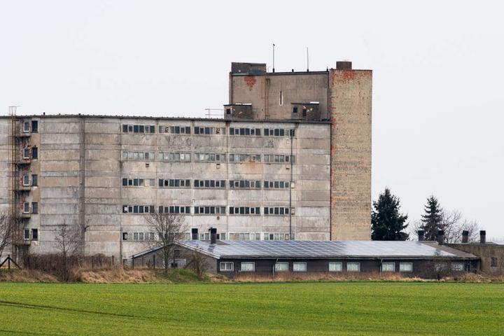 Das Schweinehochhaus in Maasdorf bei Halle (Saale): Hier werden auf sechs Etagen bis zu 3000 Schweine und Ferkel gehalten.