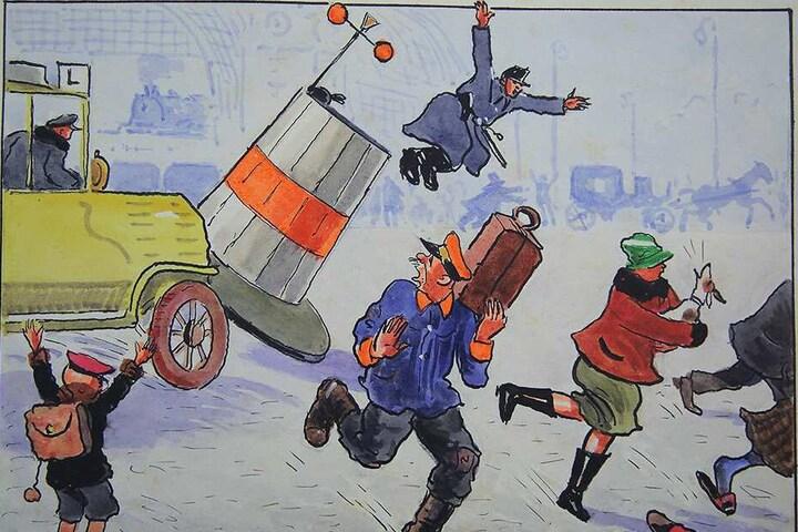 """Dieses """"Dresdner Straßenbild"""" ist ebenfalls Teil der neuen Ausstellung."""