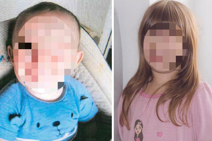 Auch ihre Kinder Fin-Luca (1), Marie-Sofie (5)...