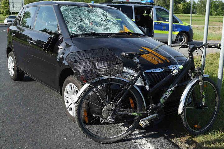 Das 13-jährige Mädchen wurde bei dem Crash schwer verletzt.