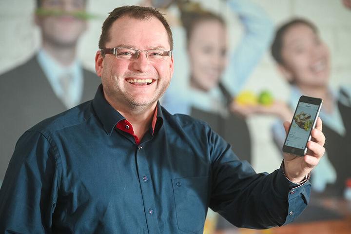 Dehoga-Dresden-Chef Axel Klein (49) sieht in der Sozialen Plattform Potenzial sowohl für bekannte Restaurants wie auch für kleine Gaststätten.