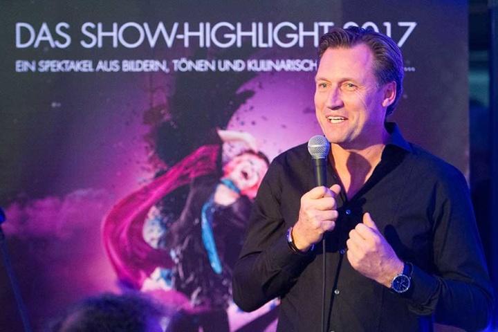 """Mirco Meinel (45) weiht die neue Eventhalle in Chemnitz mit seiner Dinnershow """"Moments"""" ein."""