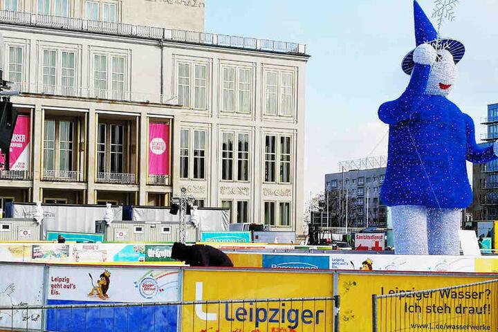 Seit dem 12. Januar drehten die Leipziger hier ihre Runden, nun ist der frostige Spaß vorbei.