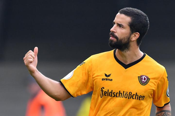 Nils Teixeira freut sich auch über Lumpis neuen Torriecher.