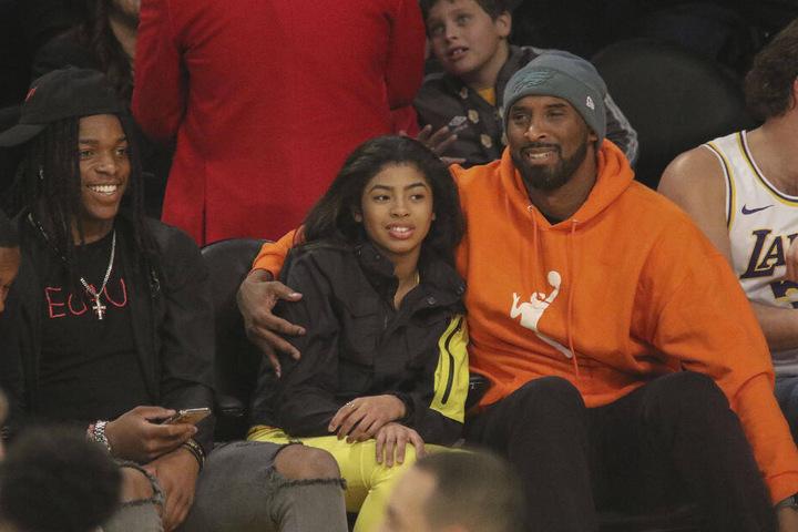 Basketball-Star Kobe Bryant mit seiner Tochter Gianna.